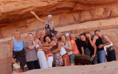 De vrouwen-woestijnreis door Jordanië van Sabine